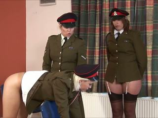 Punished military girl