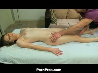 Long Haired Young Whore Massaging And Fucking