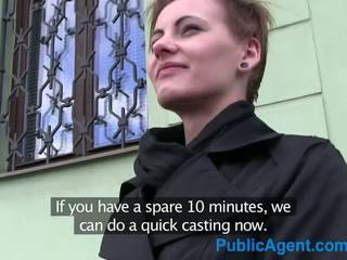 PublicAgent Short haired women fucks s...