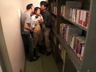 Schoolgirls groped by perverts in schoollibrary 7