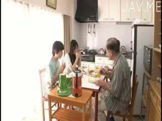 japanse, pijpbeurt, kindje