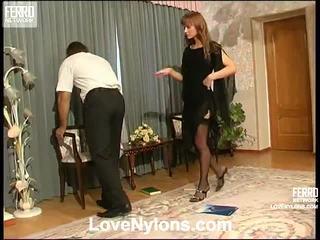 Diana ve lesley videotaped whilst having nylonsex
