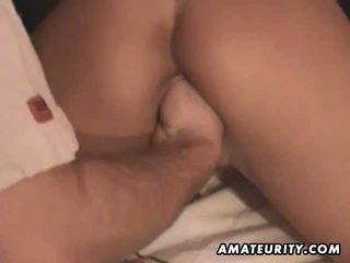 Amateur girlfriend toying sucking and fisting