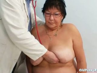 Old Pussy Exam: Busty granny Tatana for horny grandpa doctor
