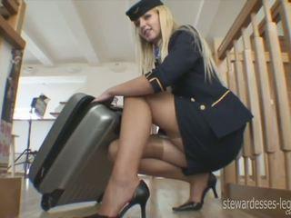 Leggy Stewardess Erica