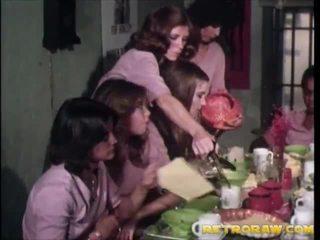 retro, lesbietė, vintage porn