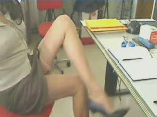 奇妙 腿 在 丝袜 suspender!