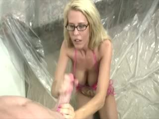 This slut is ready for the huge cum bl...