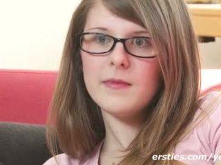 اللعب, نظارات, فتاة