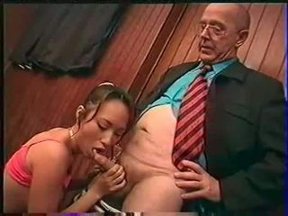 Professor fondles sniffs licks dhe fingers bamboo