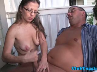 Spex amateur mqmf giving paja en la porch: gratis porno 8b