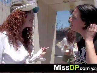 Rough double vaginal DP with redhead slut Audrey Hollander