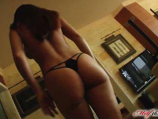MILF Mely enjoys two cocks inside of her