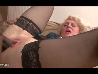Black Cock Craving for Granny in Hardcore Interracial