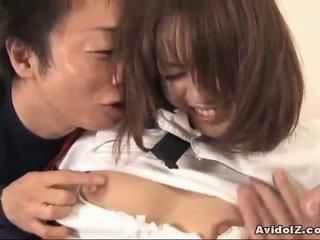 Japonais étudiante baisée à maison uncensored