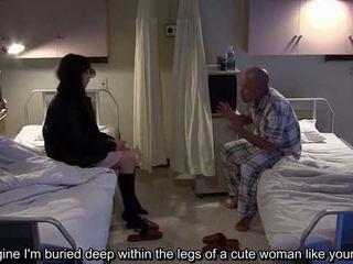 Subtitled uncensored bisarrt hospital japanska avrunkning
