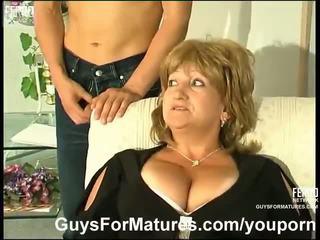 gros seins, allemand, les mamans et les garçons