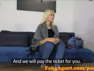 FakeAgent Russian babe takes huge facial in casting - Porn Video 111