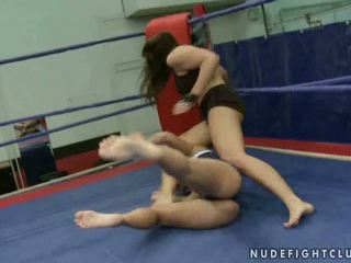 lesbiană, mare lupta lesbiene, distracție muffdiving tu
