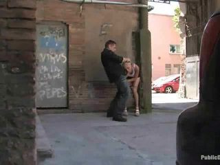 Leyla Gets Drilled In Public Place