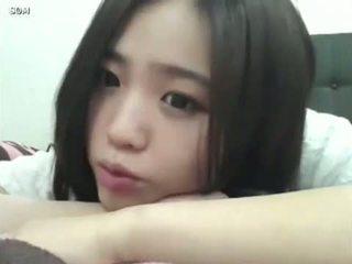 csinos, lány, koreai