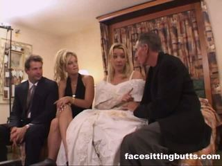 Bride-to-be got 一 讨厌 面部, 自由 facesitting butts 色情 视频