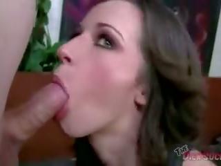 brunette, oral, blowjob