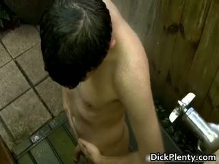 Nasty horny homo dude jerking hos stiff
