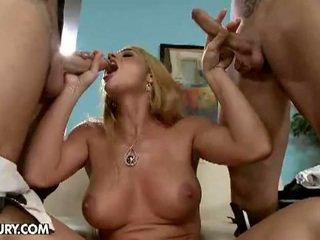 big dick, double penetration, big boobs