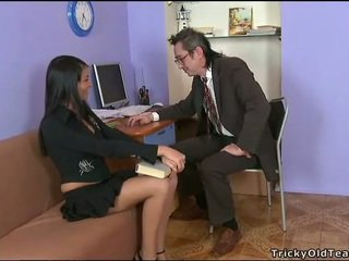 Delightful anal seks z nauczycielka