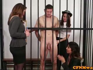Brit dom CFNM police babe humiliate prisoner <span class=duration>- 6 min</span>