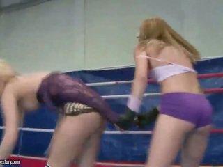 Aleska Diamond fighting with hot girl