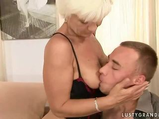 Granny and her young boyfriend enjoying hot sex