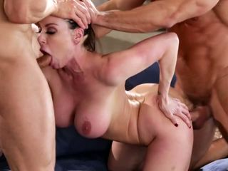Kendra lust 在 一 性交 三人行, 自由 色情 90