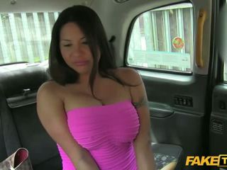 Hot Candi shows her tits for a free ride