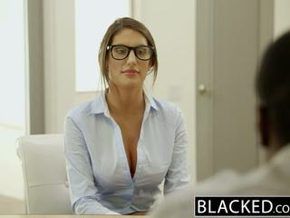 Blacked august ames gets an antara kaum creampie