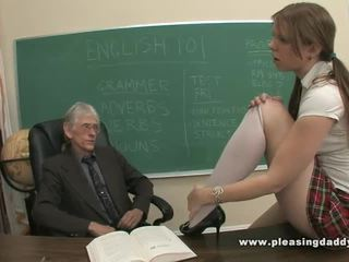 Schoolgirl Will Do Anything To Pass A Class