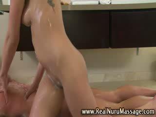 Naughty big Titty asian rubs