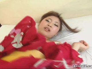 Asiatisch goddess kousaka anna receives ein heiß ccreampie