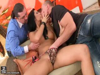 A Girl Getting Double Stuffed Porn