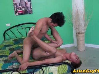Asian piss lovers bare backing cumshot