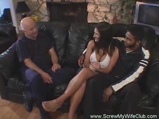 Hotwife swings v predné na manžel jo