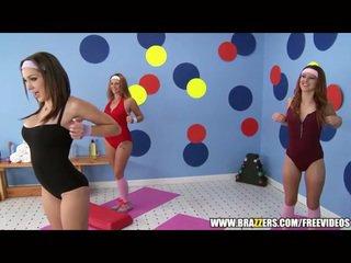 Aerobics instructor loves big dick