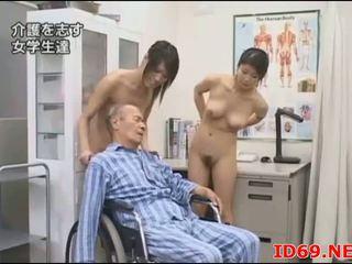 japonés, mamada, oriental