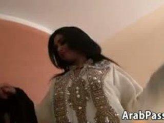 Hairy Arabic Beauty Taking A Big Cock In