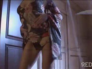 brunett, vaginal onani, striptease