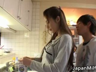 японски, красота, майка