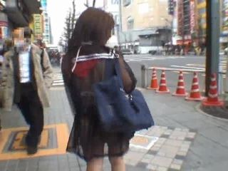 Mikan Astonishing Asian Schoolgirl Enjoys Public
