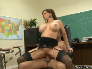 Busty teacher letting him fuck her