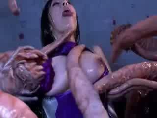 Halimaw tentacles jizzing malaki mangmang silanganin pornograpya attacker lahat ang body